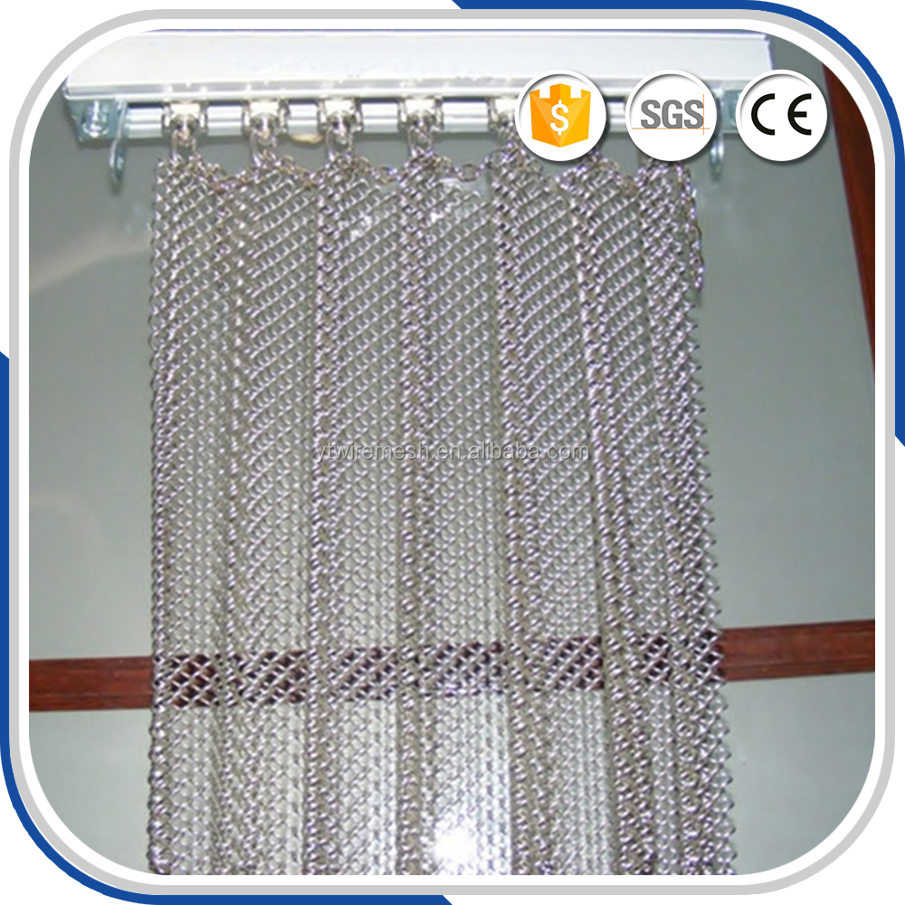 Continuous stainless steel chimney metal curtain fabric