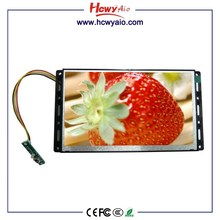 7''open frame lcd wall mounting media advertising player Play Video from Memory Card / USB Flash Disk