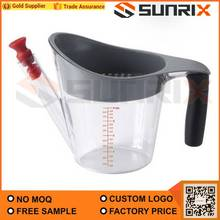 No-spill 4 cups cooking gravy fat separator