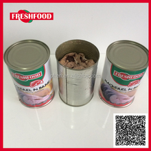 Fresh Food 425g canned mackerel in brine / tomato sauce / vegetable oil