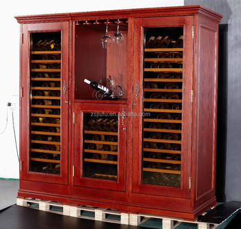 wood wine cooler cabinet 110V60HZ hot sales in Phillips , indoenisa,Thailand,Europan.Best quality (Mode:JF-W750)l)