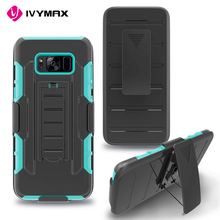 Fit for Samsug s8 phone case with holster hybrid cell phone cover