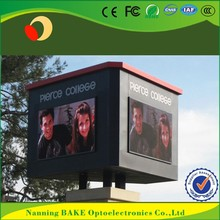 P16 outdoor high brightness advertisement led display cylindrical led display