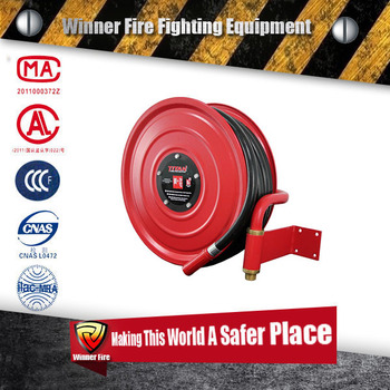 Automatic rewind wall mounted air hose reel