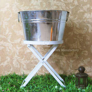 party ice bucket with stand beverage holder tub ice barrel cooler