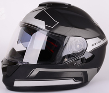 DOT approved stylish custom full face motorcycle helmet with double visor for sale