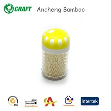 round shape bamboo tooth pick with competitive price