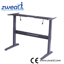 height adjustable metal frame furniture pc table with the cheap price ergonomic computer electric desks
