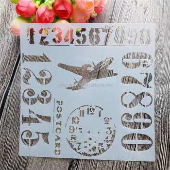 environmental polypropylene custom color kids DIY types of drawing stencil set