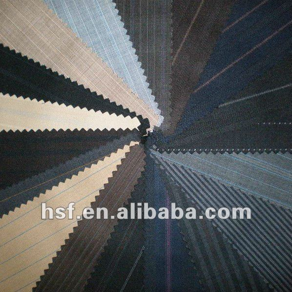 Worsted Wool Mens Suiting Fabric