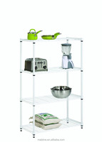 4 level Chrome Shelving Storage Metal Rack
