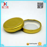 wholesale 53mm golden lug tin lid cap for glass jar cheap price