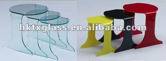 unique glass end table design