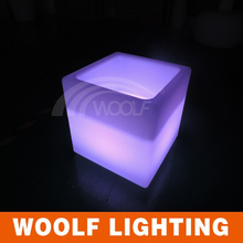 color changing plastic led luminous cube boxes