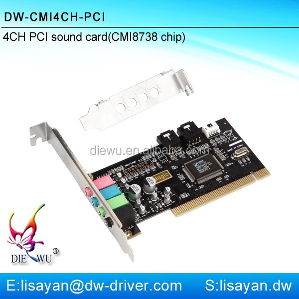 Factory direct sale cmi8738 mini pci 4ch sound card with driver