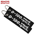 REMOVE BEFORE FLIGHT EMBROIDERY KEYCHAIN