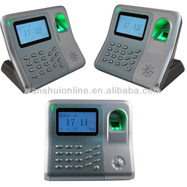 Fingerprint time attendance with ID card reader and Li-battery