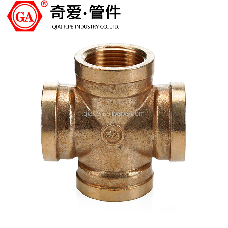GA /QIAI BRAND brass fittings BRASS CROSS