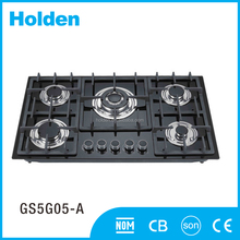 GS5G05-A New brand technology hotel black 5 burner gas stove