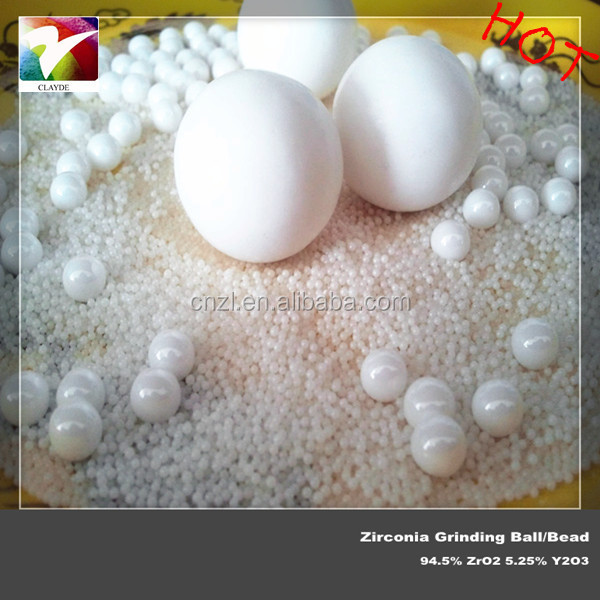 High density 6.0g/cm3 yttria zirconia porcelainous ball 30mm for ceramics