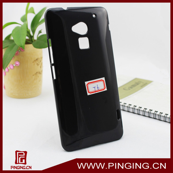 Wholesale blank black plastic case for HTC One MAX T6