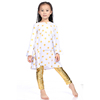 Baby clothes clothing manufacturers fall winter white gold polk dot with metallic tight outfit