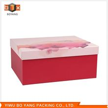 Factory directly special design packaging box with window fast delivery