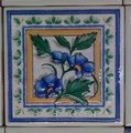 Daltile 4x4 KK22 BLUEBERRY decor