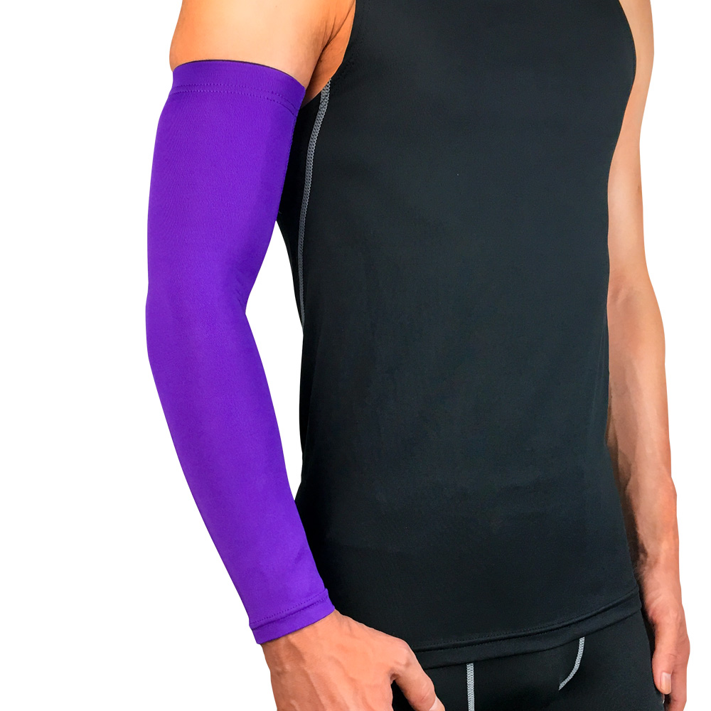 Prevent injury relieve pain guard quick dry support elbow brace arm sleeves for sports