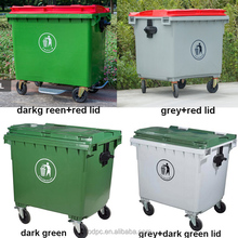 660L1100Ltr1200Liter plastic dustbin outside rubbish cans waste bins outdoor container