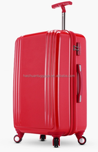 HIGH QUALITY PC ZIPPER LUGGAGE /red luggage/20/24/28 inch tour case