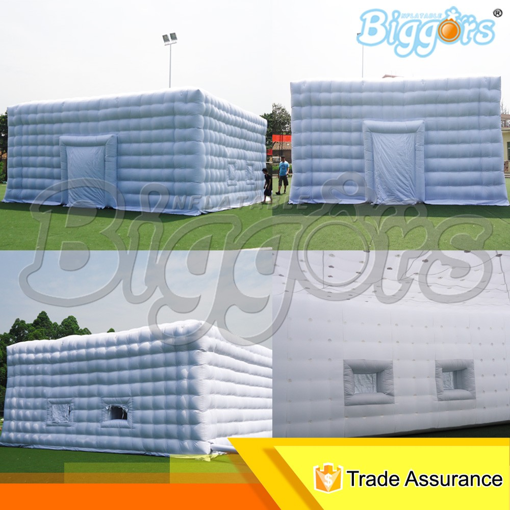 Free Shipping By Sea Hot Sale 10*10M Giant White Inflatable Party Tent For Sale