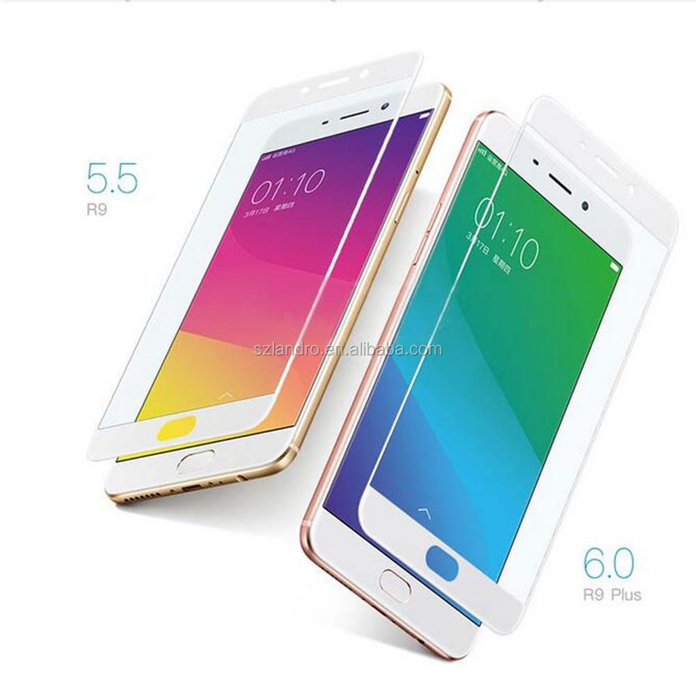 3D Full Cover Tempered Glass Screen Guard for OPPO R9 Cell Phone Accessories Screen Protector