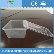 Custom plastic clear food storage boxes with lid