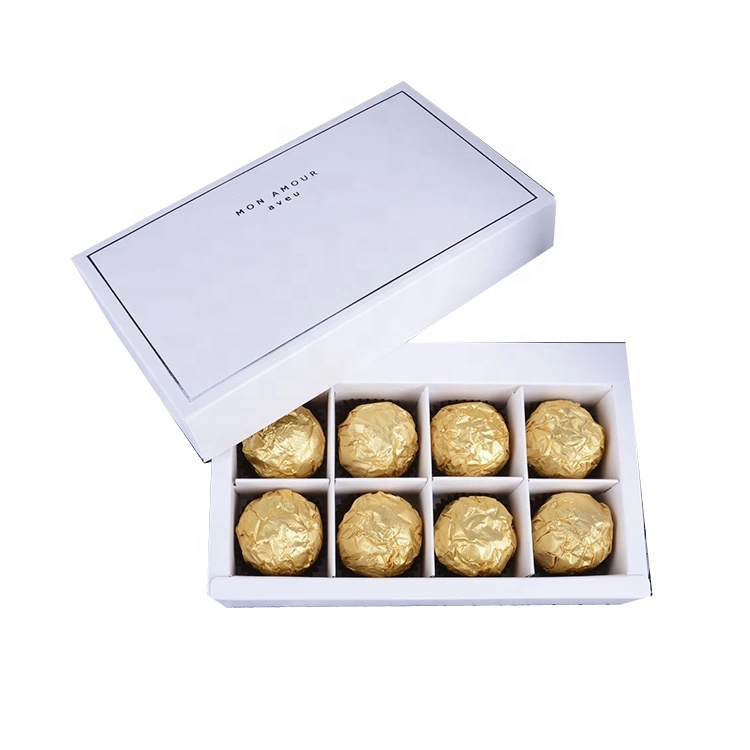 Custom chocolate food grade cardboard box with insert