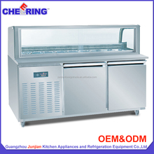 restaurant equipment WMG1 arc glass pizza table undercounter stainless steel commercial fridge for catering with CE