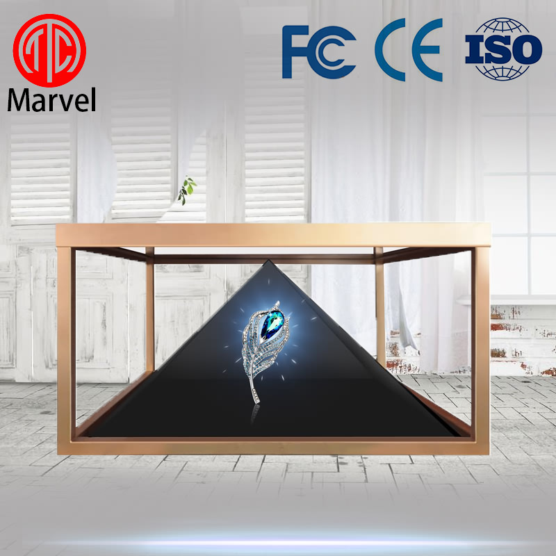 Full HD 3D Holographic Display 3D Holographic Pyramids