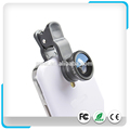 Portable 3in1 Clip-on Lens Kit-0.4X Wide Angle+180 Degrees Fisheye + Macro lens For Mobile phones / Tablets