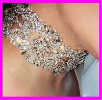 KDA3809 New Luxury Women Jewelry Crystal Rhinestone Beads Drop Pendant Choker Necklace