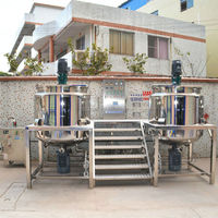 1000L combined design mixing machine price, lotion and shampoo making machine