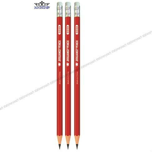 7 Inches Natural Wooden Pencil With Eraser Top