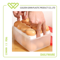 High quality double deck clear plastic egg container