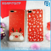 Fashion Christmas Series Silk Pattern Plastic Full Cover Case For iPhone 6 6Plus 7 7Plus