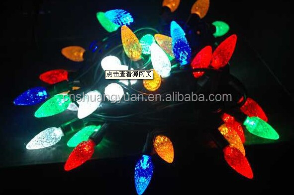 Hot!!Wholesale pine shape Christmas lights,multicolor eletric garland