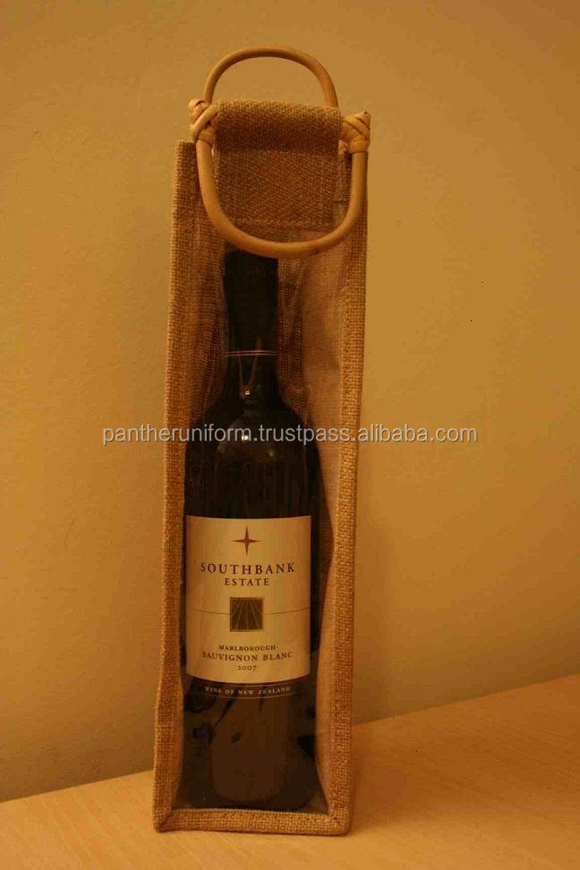 Bio-degradable Jute Single Bottle Wine Packaging Bag