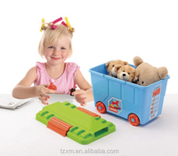 Bus collapsible toy box and closet organizer for kids