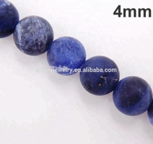 Matte sodalite beads 4mm, beads for jewelry making, natural stone beads