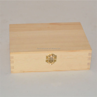 Trade assurance small unfinished wooden box with lid for kids storage