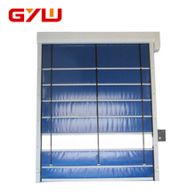 Automatic aluminum stacking doors for warehouse