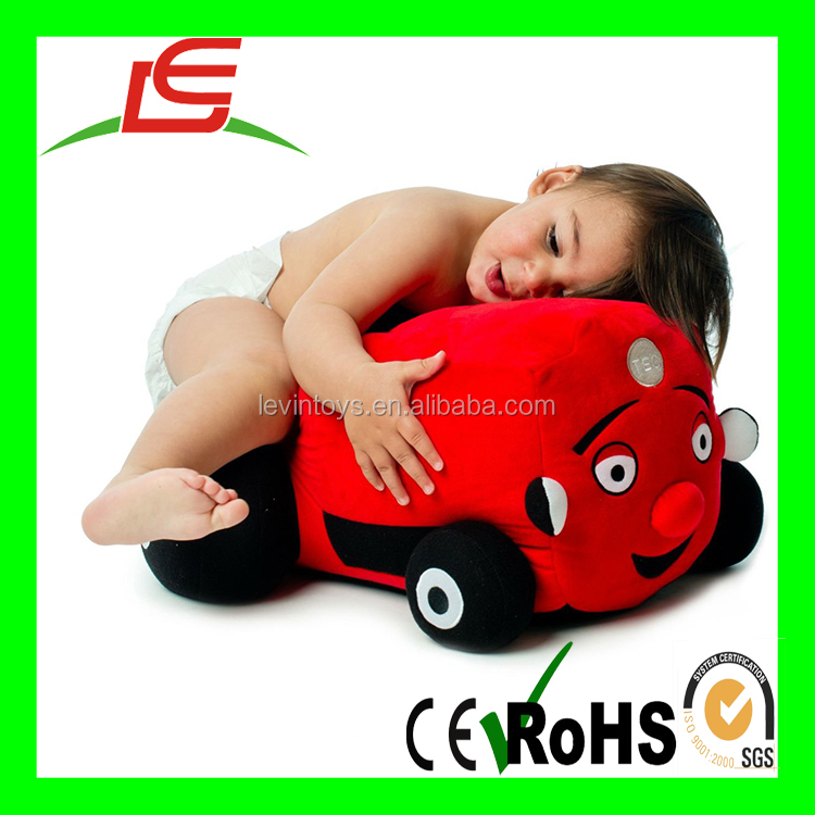 EN71 ICTI Stuffed Red Baby First TV Jumbo Tec the Tractor With Expression